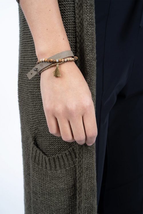 Zusss leuke armband olijfgrijs no28wonen en lifestyle