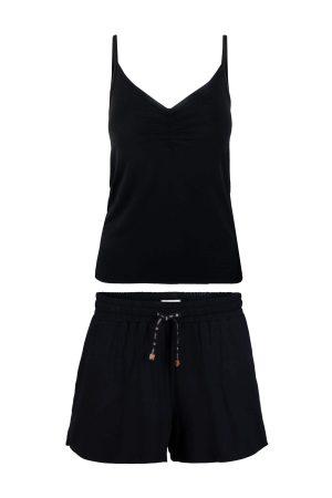 Zusss lieve shortama zwart no28wonen en lifestyle webshop