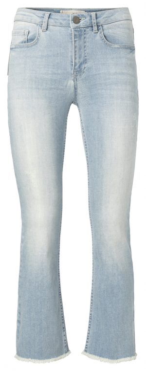 Korte jeans met kick flare - wonen en lifestyle webshop no28wonen