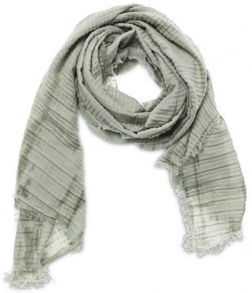 linnen sjaal met plooien en tie dye print - wonen en lifestyle webshop no28wonen