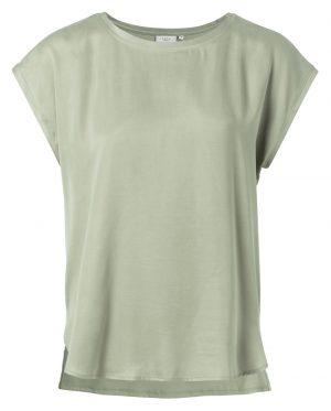 T-shirt van twee materialen met ronde randen - wonen en lifestyle webshop no28wonen