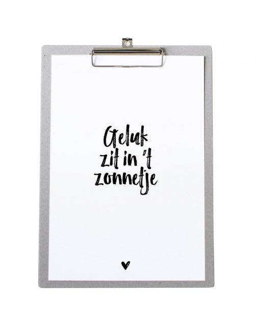 zoedt poster met tekst geluk zit int zonnetje no28 wonen en lifestyle webshop