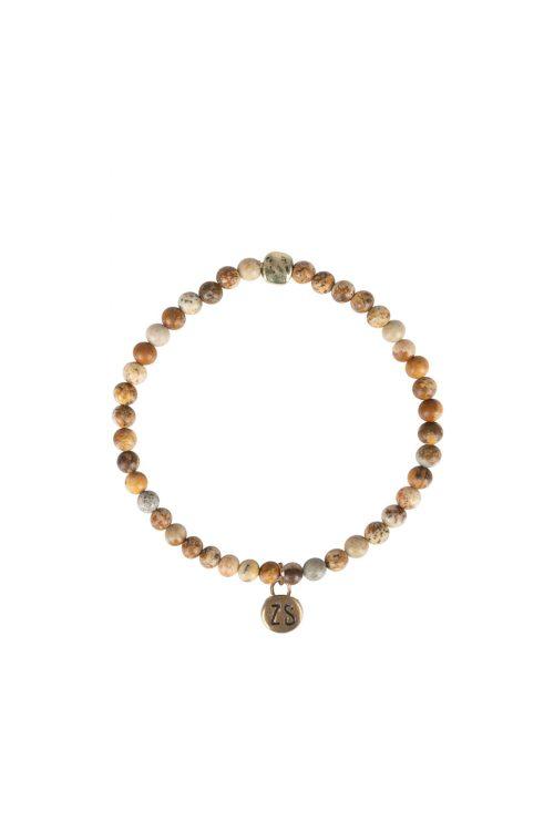 Zusss armband marmerkraal bruin no28wonen en lifestyle webshop