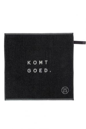 handdoek komt goed zwart van zusss -wonen en lifestyle webshop no28wonen