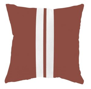 No28wonen.nl LabelR buitenkussen steenrood streep wit no28wonen en lifestyle webshop