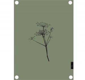 no28wonen.nl LabelR tuinposter berenklauw olijfgroen no28 wonen en lifestyle webshop
