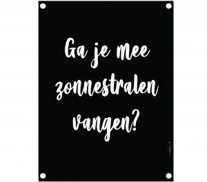 labelR tuinposter zonnestralen vangen zwart no28wonen.nl wonen en lifestyle webshop
