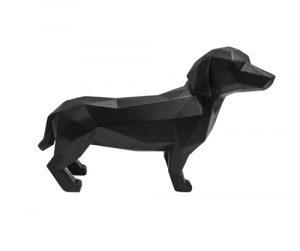 no28wonen.nl statue origami dog polyresin matt black no28 wonen en lifestyle