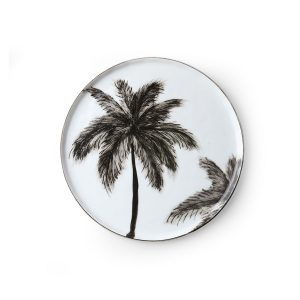 no28wonen.nl bold&basic porcelain side plate palms no28 wonen en lifestyle