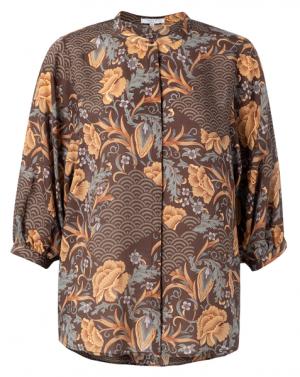 no28wonen.nl blouse van lyocell met 3/4 mouwen no28wonen en lifestyle