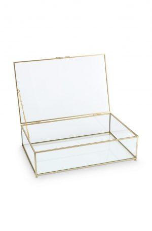 Vt wonen - glazen box goud 21x33x9 cm no28wonen.nl wonen en lifestyle webshop