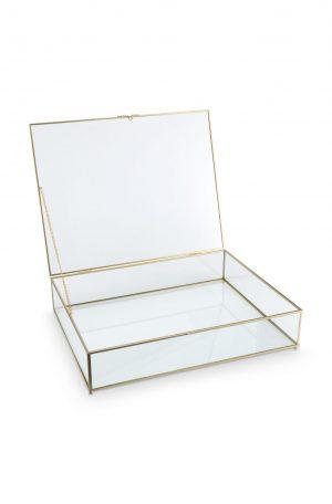 Vt wonen - glazen box goud 42x33x9cm no28wonen.nl wonen en lifestyle webshop