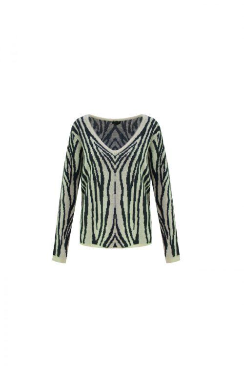 no28wonen.nl groene trui met zebraprint no28wonen en lifestyle