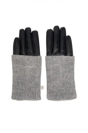 no28wonen.nl stoere handschoen zwart/mist no28wonen en lifestyle