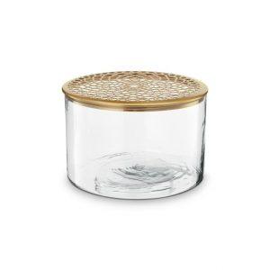 no28wonen.nl vaas met deksel van metaal goud 20x13 cm no28wonen en lifestyle