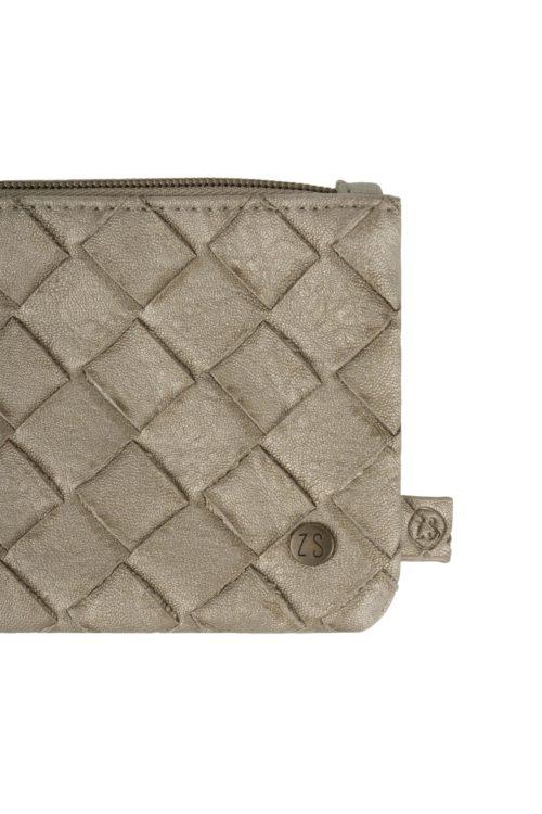 no28wonen.nl -Zuss dubbele portemonnee metallic gevlochten - no28wonen en lifestyle