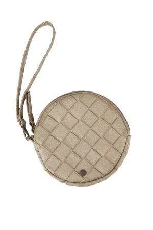no28wonen.nl -Zuss kekke ronde clutch metallic gevlochten - no28wonen en lifestyle