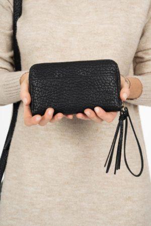 no28wonen.nl -Zuss leuke portemonnee zwart gevlokt - no28wonen en lifestyle