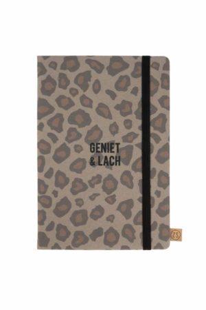 no28wonen.nl -Zusss notitieboek geniet leopard- no28wonen en lifestyle