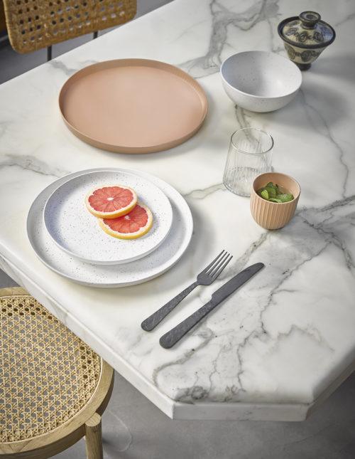 HK living bold & basic wit speckled ontbijtbordje no28wonen.nl wonen en lifestyle webshop