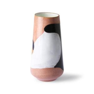 hk living handbeschilderde vaas no28wonen.nl wonen en lifestyle webshop