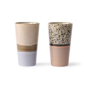 HKliving latte mokken set van 2