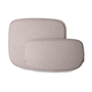 HKliving zit en rugkussen draadstoel kiezel stoelen zitkussens grijs
