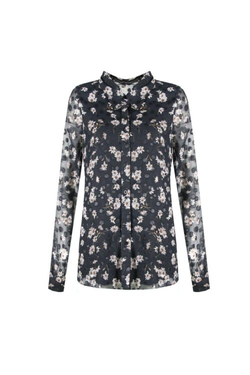 no28wonen.nl -C&S blouse zand zwart - no28wonen en lifestyle