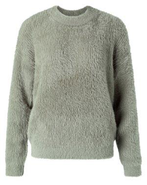 no28wonen.nl -Yaya donzige trui van een mix van imitatiebont met ronde hals- no28wonen en lifestyle