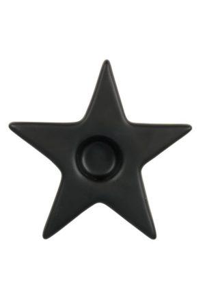 no28wonen.nl -Zusss kandelaar met ster mat zwart- no28wonen en lifestyle