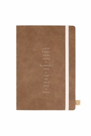 no28wonen.nl -Zusss notitieboek rainy days cognac - no28wonen en lifestyle