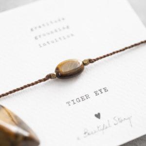 no28wonen.nl -a Beautifull Story - verstelbare armband goud tiger eye-no28wonen en lifestyle