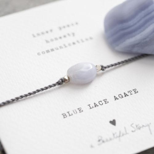 no28wonen.nl -a Beautifull Story - verstelbare armband lichtblauw blue lace agate -no28wonen en lifestyle