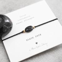 no28wonen.nl -a Beautifull Story - verstelbare armband zwart onyx -no28wonen en lifestyle