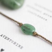 no28wonen.nl -a Beautifull Story - verstelbare armband goud aventurine-no28wonen en lifestyle