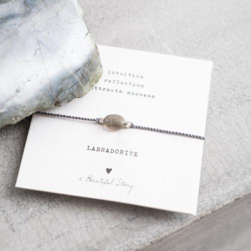 no28wonen.nl -a Beautifull Story - verstelbare armband grijs labradorite -no28wonen en lifestyle