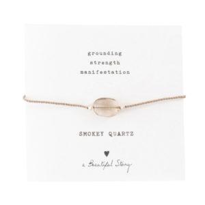 no28wonen.nl -a Beautifull Story - verstelbare armband zilver smokey quartz -no28wonen en lifestyle