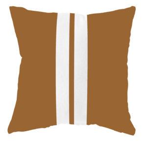 labelR buitenkussen hazel bruin 2 strepen wit no28wonen.nl wonen en lifestyle webshop