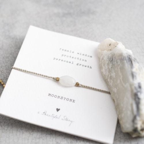no28wonen.nl -a Beautifull Story - verstelbare armband goud moonstone-no28wonen en lifestyle