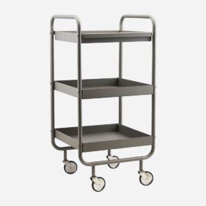 House doctor trolley roll grijs no28wonen.nl wonen en lifestyle webshop