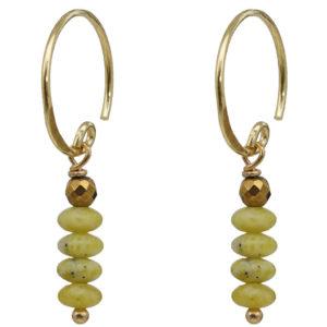 www.no28wonen.nl 686 Saya Mala Earring 08 Yellow Turquoise Gold
