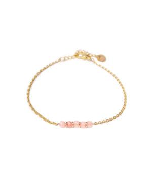 jade roze armband van label kiki -wonen en lifestyle webshop no28wonen.nl