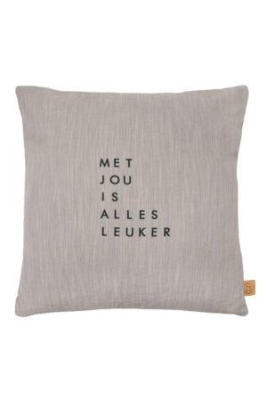 no28wonen.nl -Zusss kussen met jou warm grijs- no28wonen en lifestyle