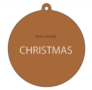 www.no28wonen.nl label-r kerstbal lovely Christmas hazel bruin no28wonen.nl wonen en lifestyle webshop