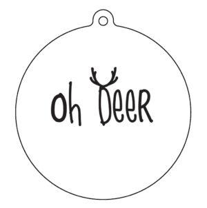 label-r kerstbal oh deer wit no28wonen.nl wonen en lifestyle webshop