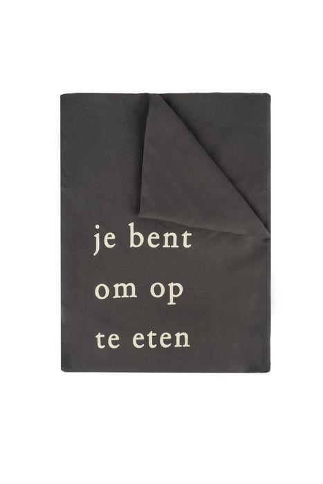 no28wonen.nl -Zusss tafelkleed rond eten antracietgrijs - no28wonen en lifestyle