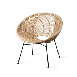 HKliving rattan ball lounge chair natural - wonen en lifestyle no28wonen