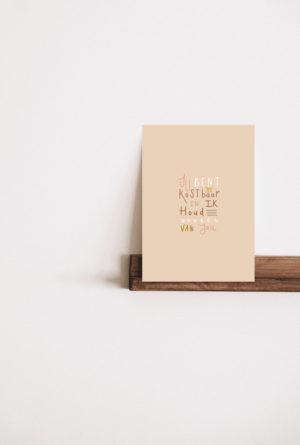 Huis van mijn kaart Jij bent zo kostbaar en ik houd zoveel van jou no28wonen.nl