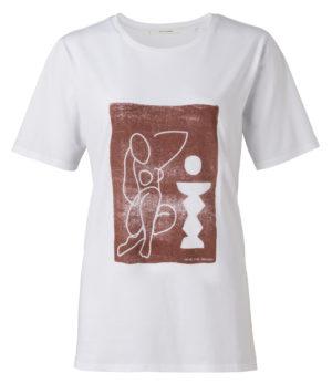 yaya t-shirt steno print no28wonen.nl