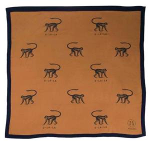 Zuss sjaal aapjes camel no28wonen en lifestyle